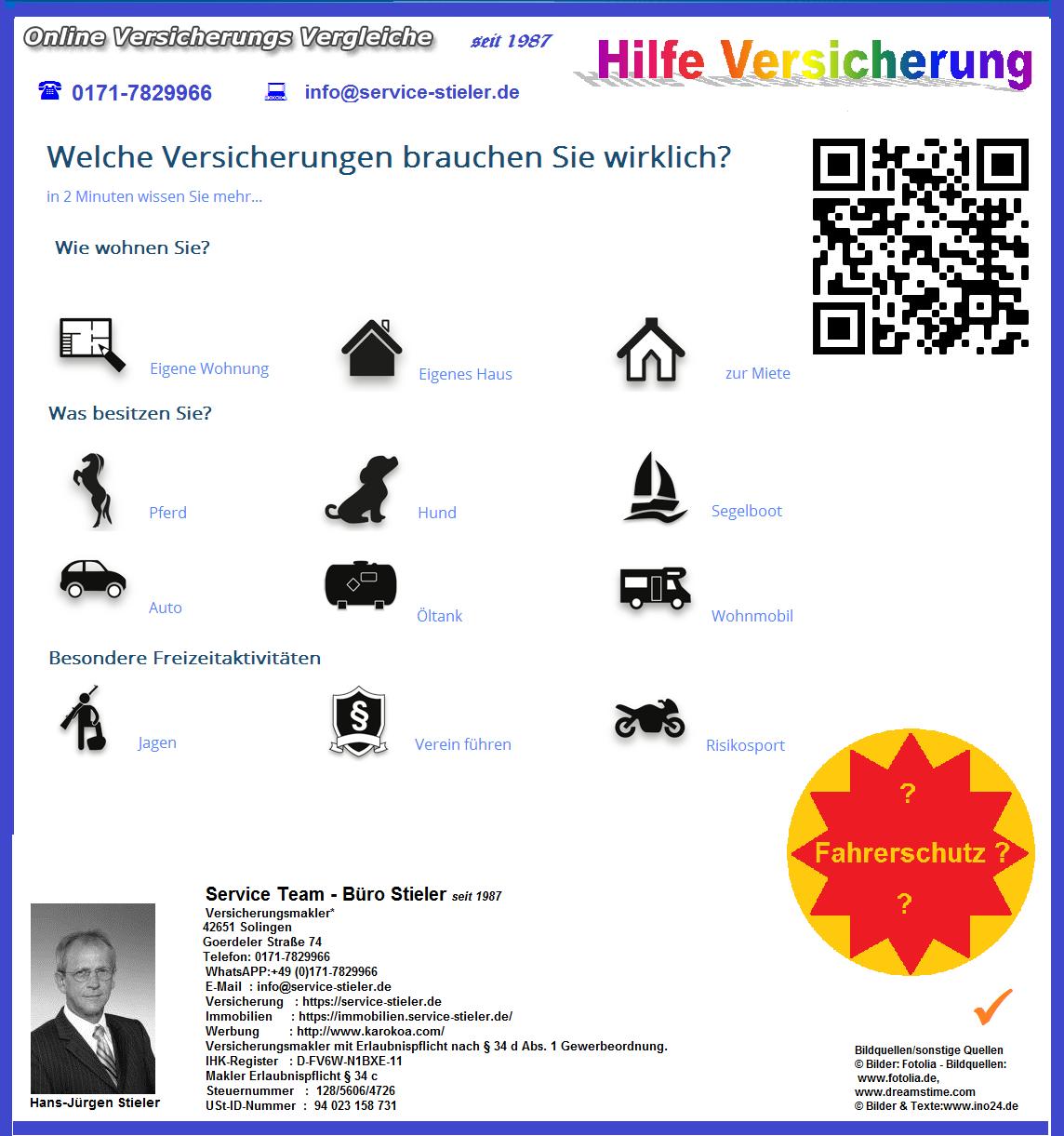#Check #Bedarfsanalyse Welche Versicherungen brauchen Sie wirklich?  In 2 Minuten wissen Sie mehr..  http://service-stieler.de/Check.html