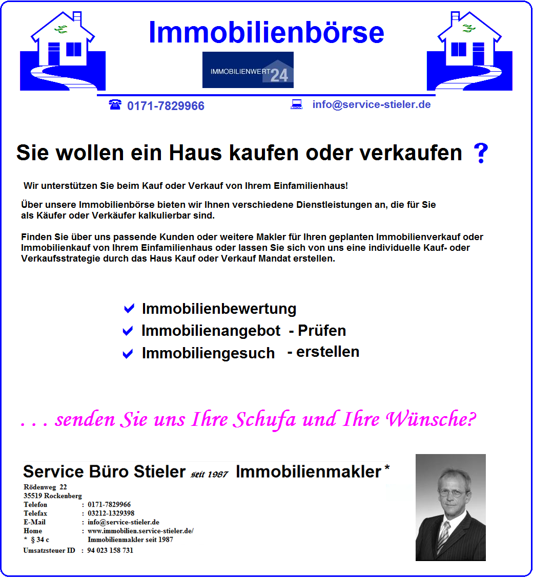 Screenshot http://www.immobilien.service-stieler.de/Immobilien-Bewertung.html
